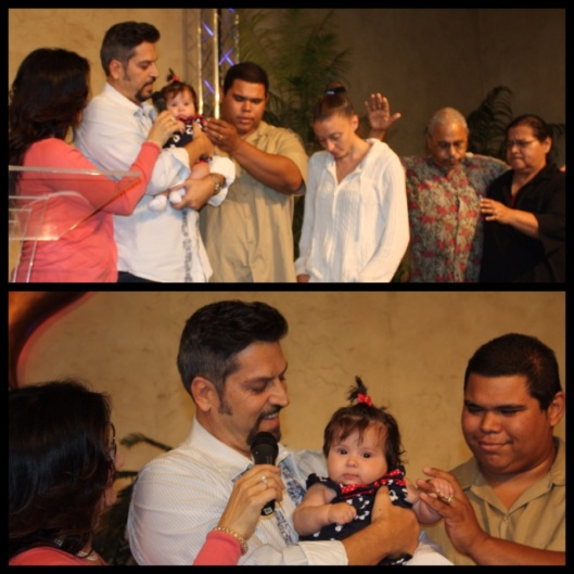Baby Dedication @ Living Faith November 2012 Parents: Michael & Tayleina dedicating Celeste