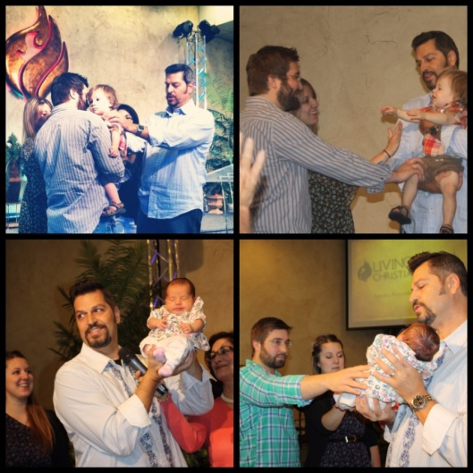 Baby Dedications @ Living Faith Brandon & Justine dedicating Above: Alexander July 2012 Below: Evelyn November 2012